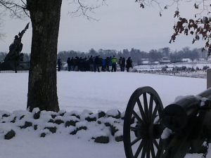 Gettysburg snow 2014 b